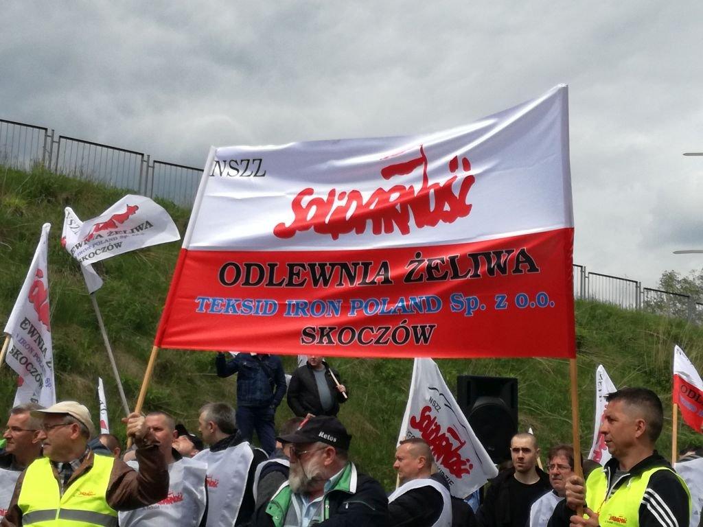 Kolejny protest w odlewni żeliwa