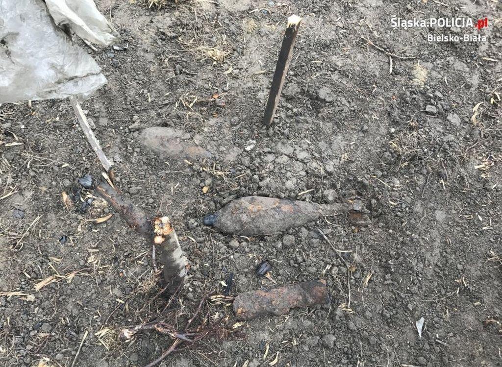 Rolnik znalazł pociski moździerzowe