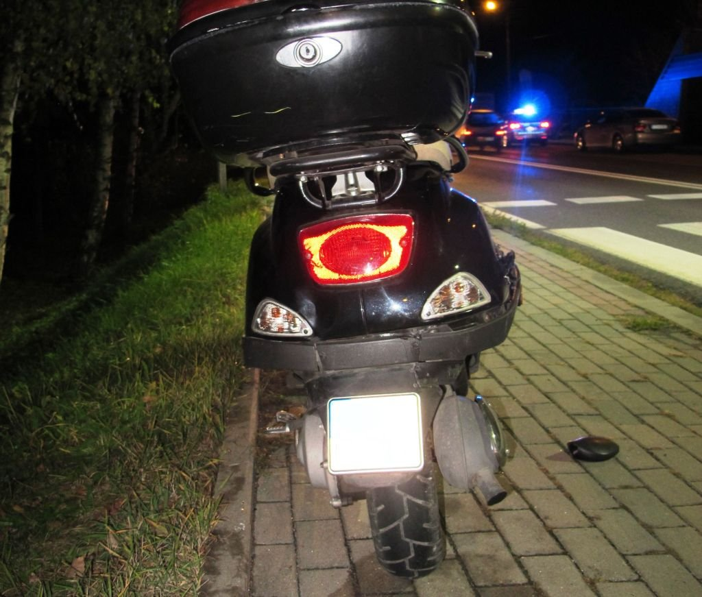 Kierowca skutera w szpitalu