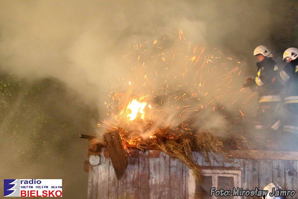 Bystra - pożar budynku przy ul. Kalinowej