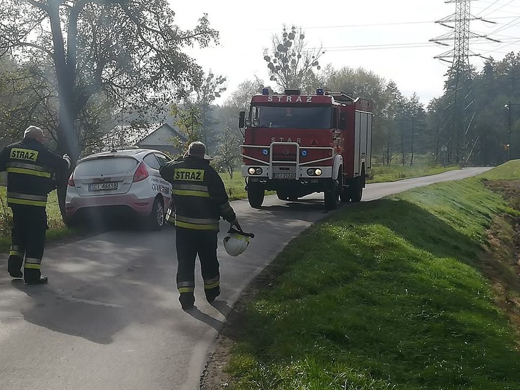 Auto Wypadło Z Drogi. 17-Latka Trafiła Do Szpitala