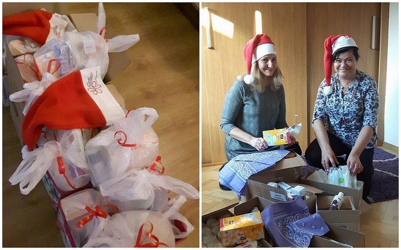 Pomocnice Mikołaja z nietypowymi prezentami
