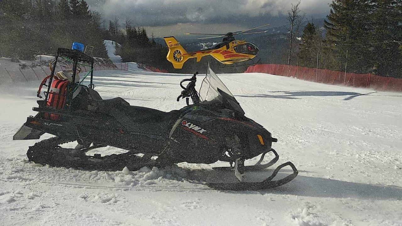 LPR zabrał nieprzytomnego narciarza