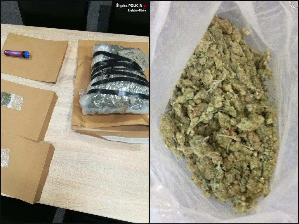 Kilogram marihuany w aucie. Do tego napaść
