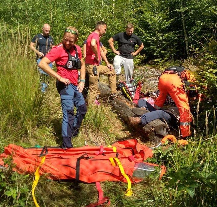 20 Wypadków W Beskidach. Głównie Rowerzystów