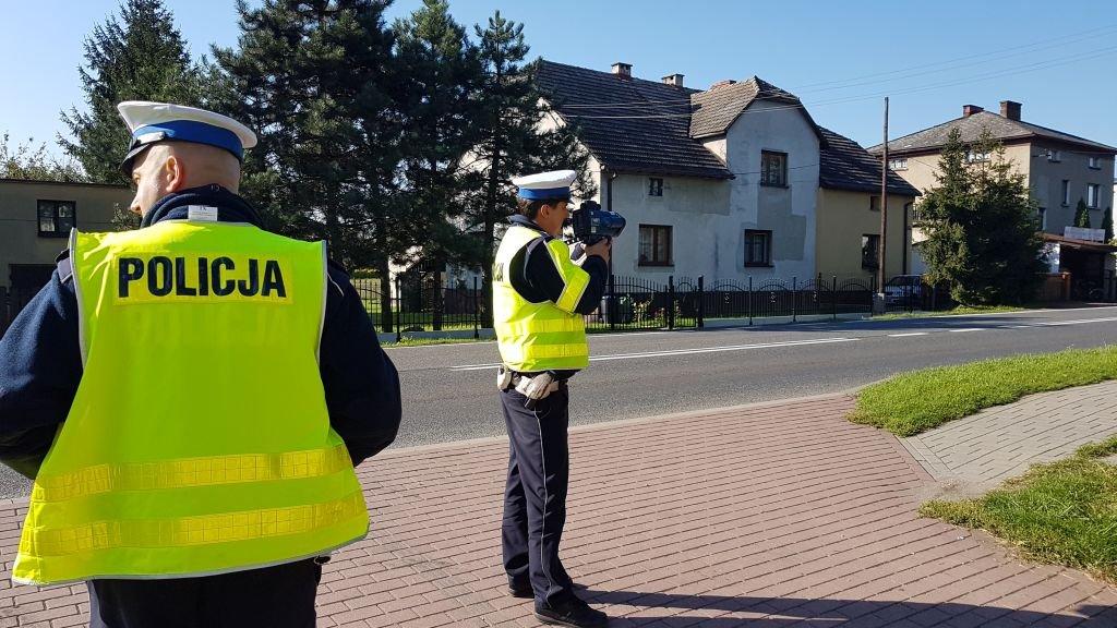 Akcja policji na drodze