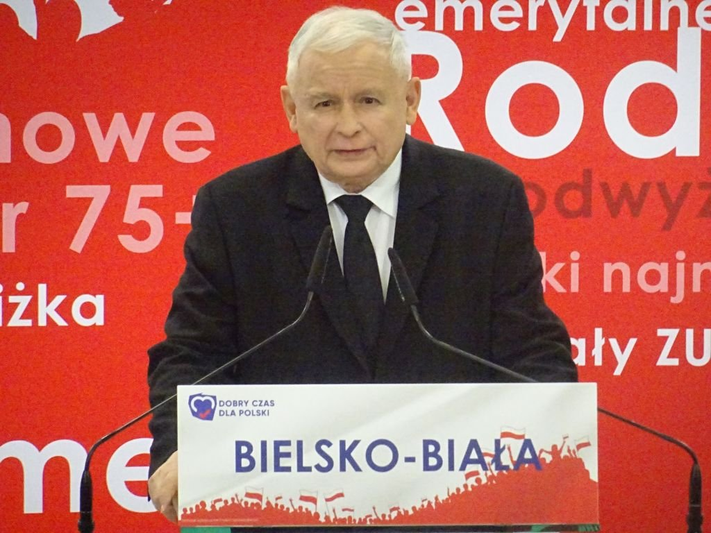 Jarosław Kaczyński w Bielsku-Białej