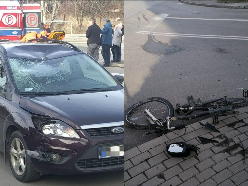 Wypadek: kierowca nie ustąpił pierwszeństwa