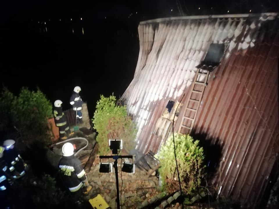 Spłonął budynek