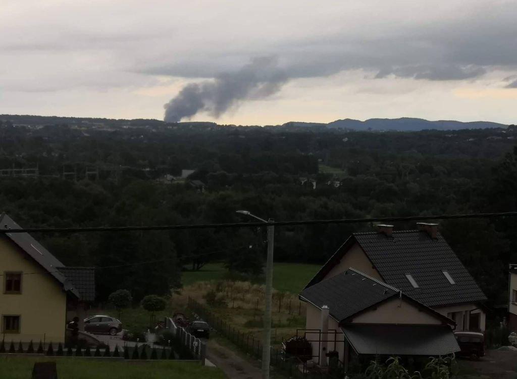 Kłęby Dymu Unosiły Się Nad Miastem