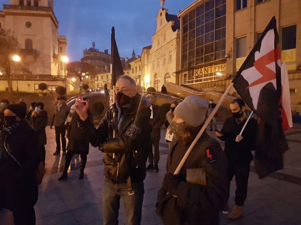 Manifestanci uczcili rocznicę