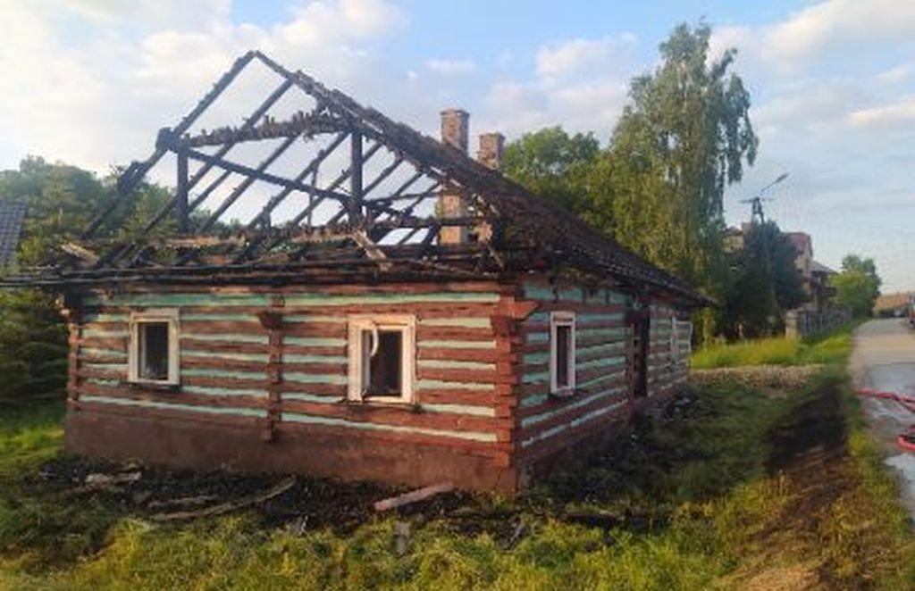 Płonął opuszczony budynek