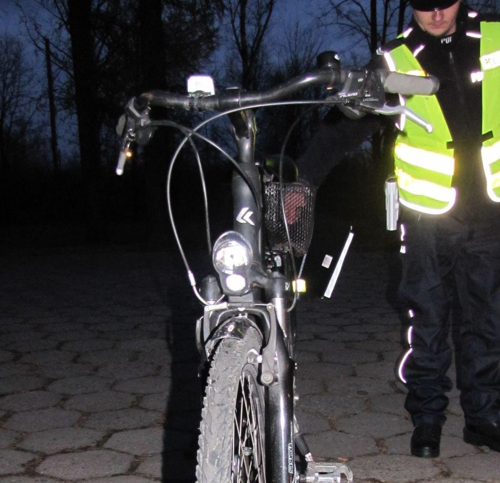 Wesoły rowerzysta