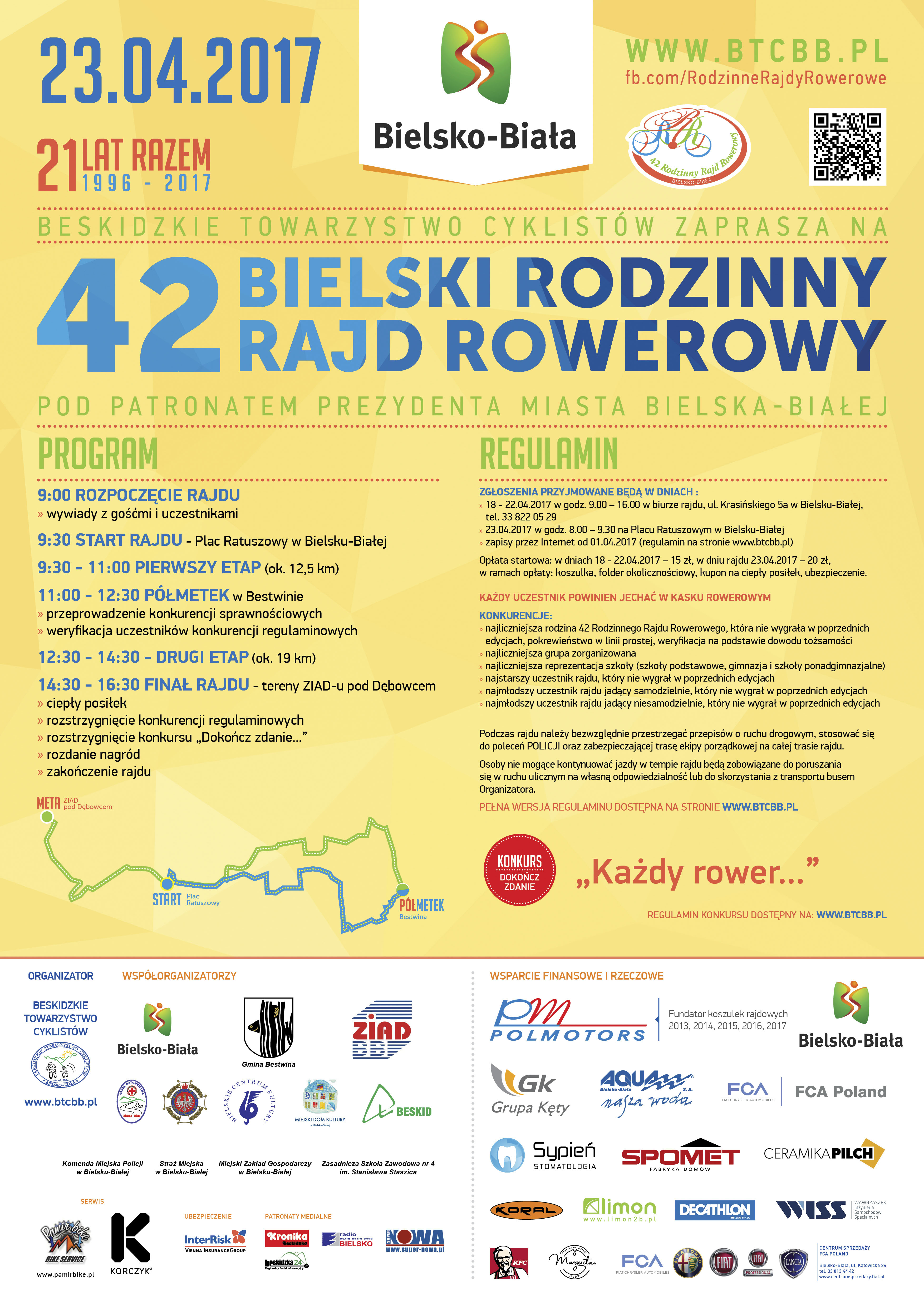 42 Bielski Rodzinny Rajd Rowerowy