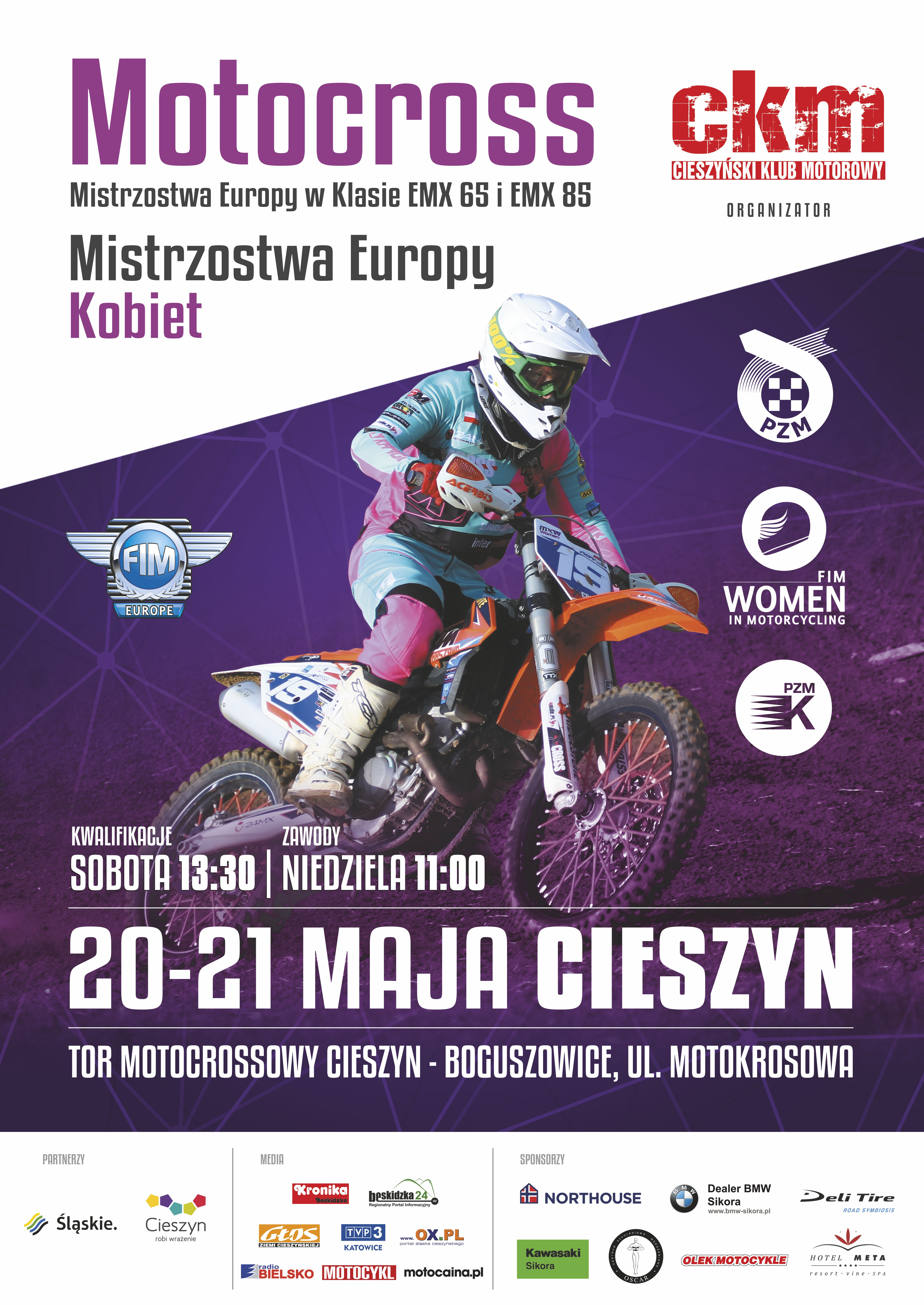 Motocross Mistrzostwa Europy Kobiet W Klasie Emx 65 I Emx 85