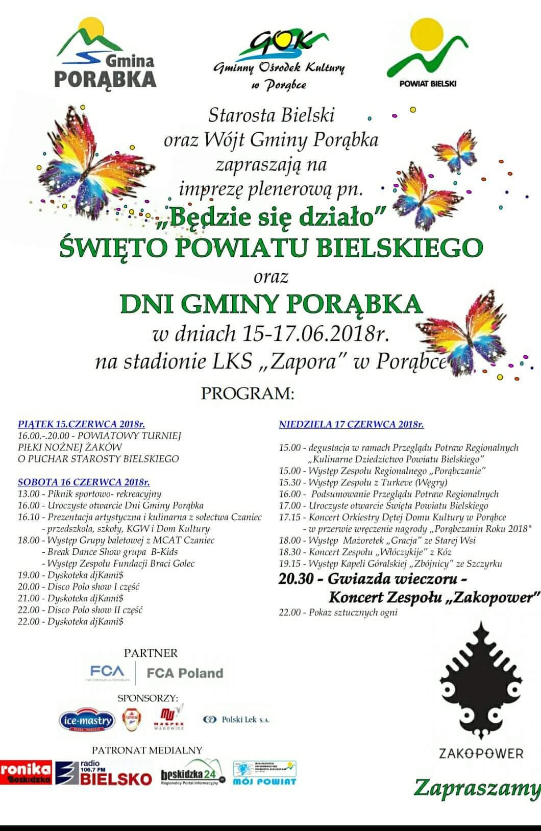 Święto Powiatu Bielskiego Oraz Dni Gminy Porąbka