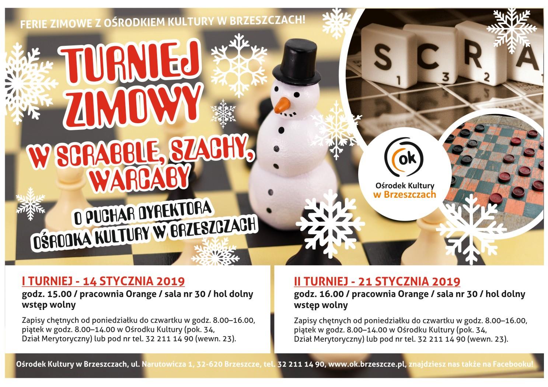 Turniej Zimowy W Scrabble, Szachy, Warcaby
