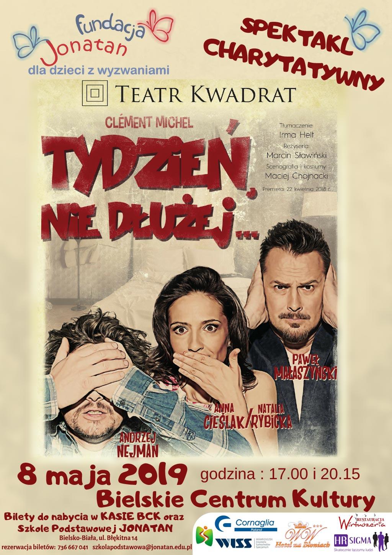 """Spektakl Teatru Kwadrat """"tydzień Nie Dłużej"""""""