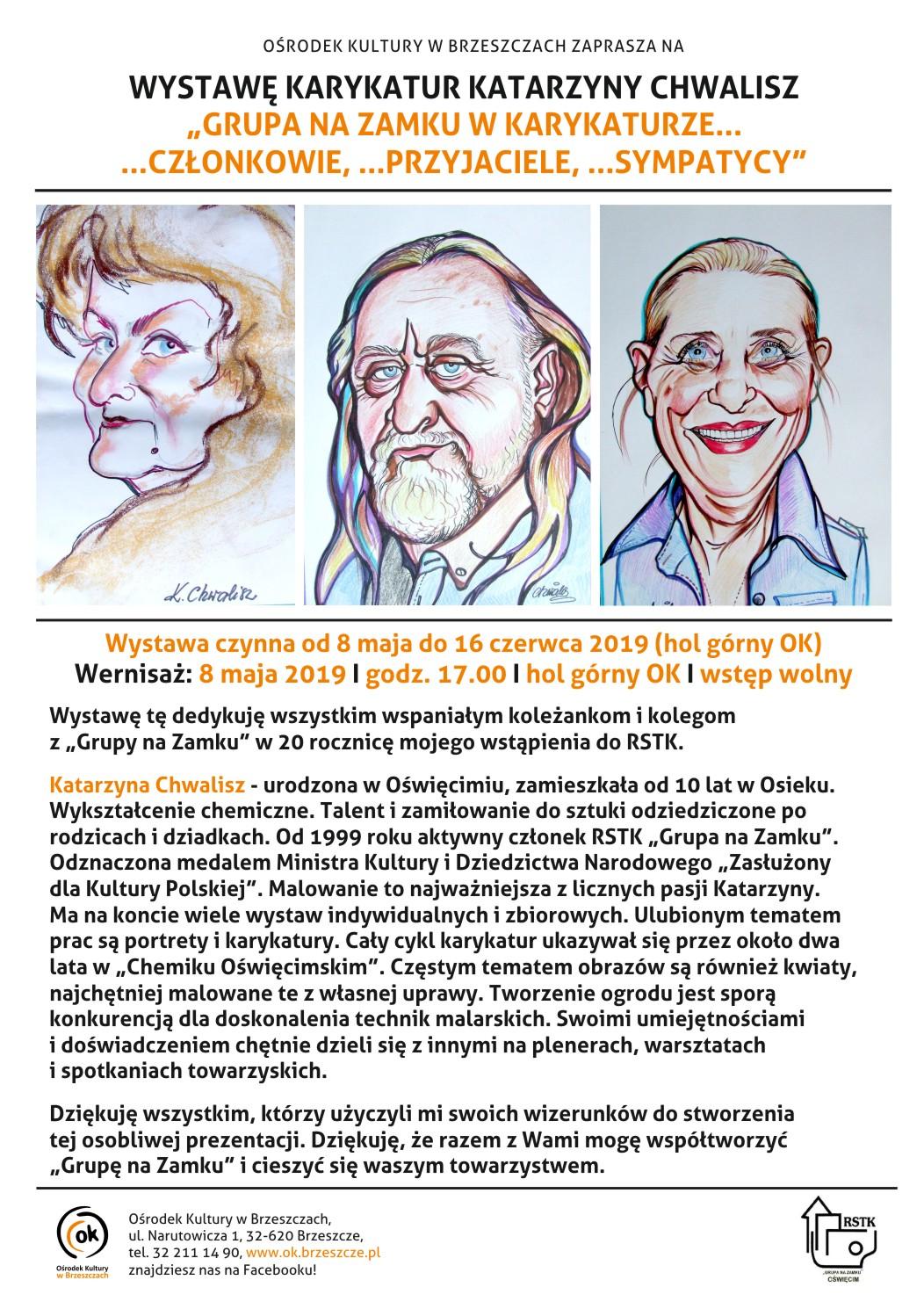 Wystawa Karykatur Katarzyny Chwalisz