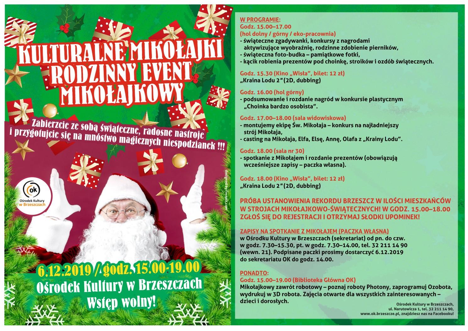 Kulturalne Mikołajki - Rodzinny Event Mikołajkowy