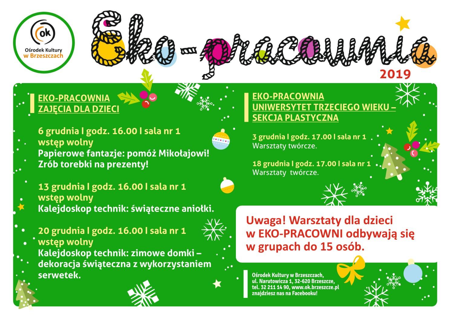 Eko-Pracownia - Warsztaty Dla Dzieci