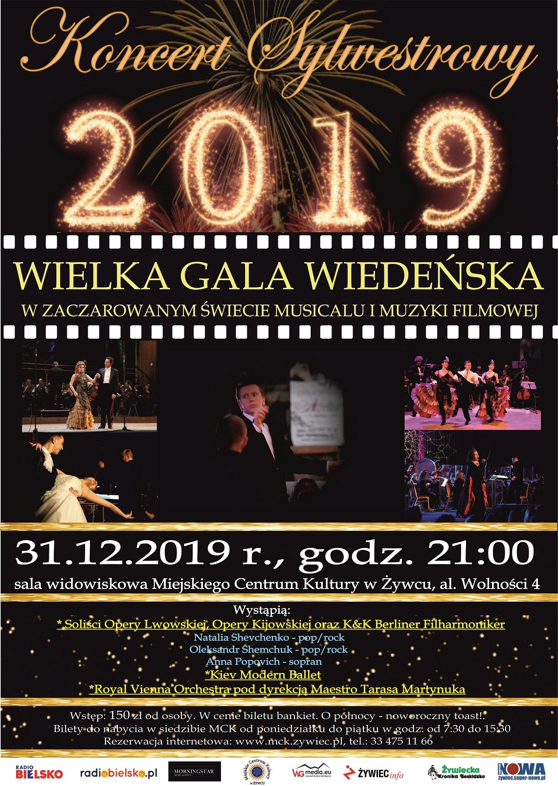 Koncert Sylwestrowy W Mck W Żywcu - Wielka Gala Wiedeńska