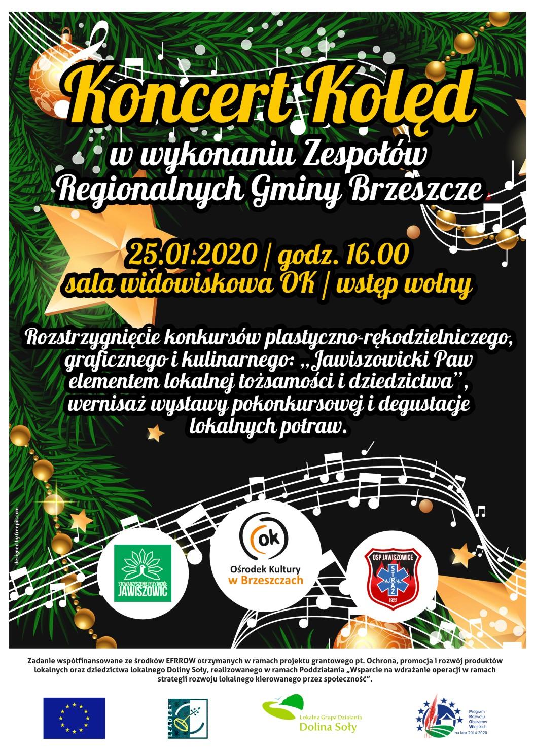 Koncert Kolęd W Wykonaniu Zespołów Regionalnych Gminy Brzeszcze