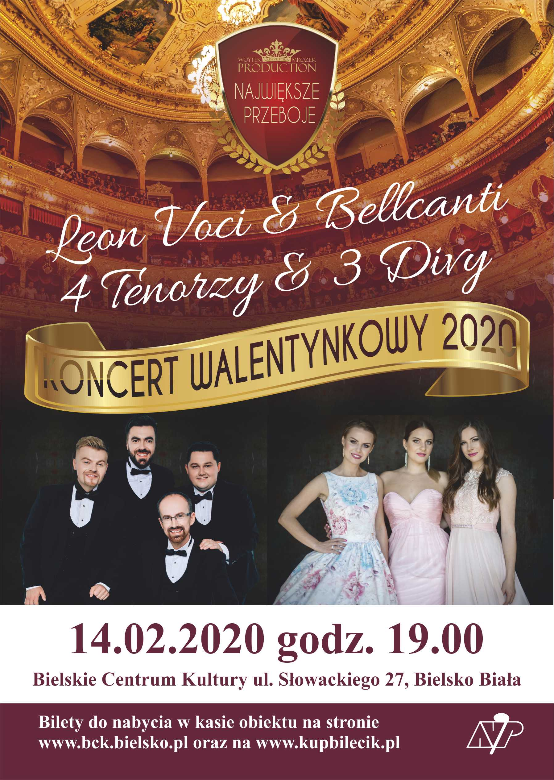 Ekskluzywny Koncert Walentynkowy 2020 - 7 Wspaniałych Leonvoci & Bellcanti Wm Ensemble