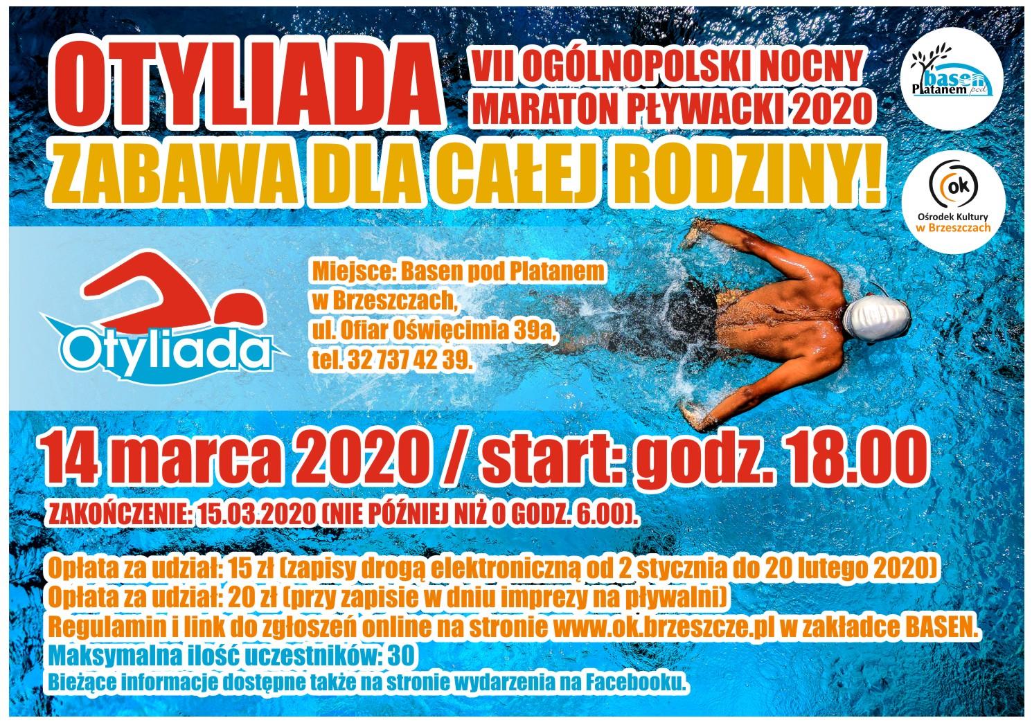 Vii Ogólnopolski Nocny Marator Pływacki 2020