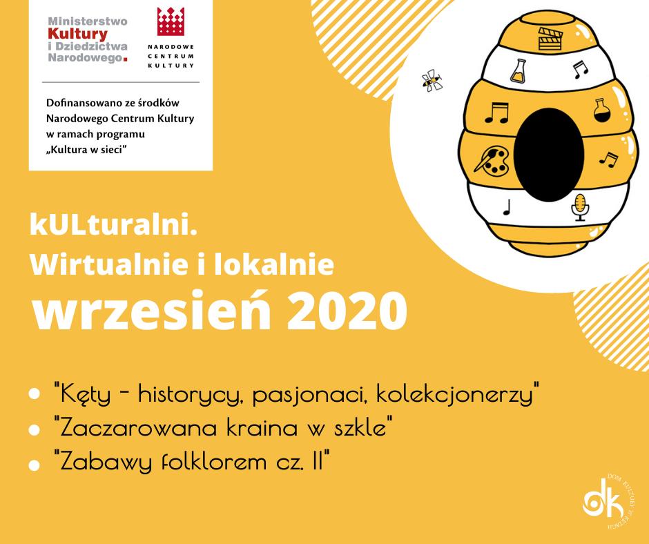 Kulturalni. Wirtualnie I Lokalnie - Wrzesień 2020